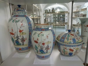 Japanese Kakiemon porcelain in storage
